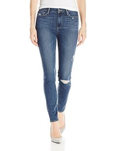PAIGE Womens Hoxton Ankle Silas Destructed Silas Destructed 23 * Want additional info? Click on the image. (This is an affiliate link) #fashionjeans