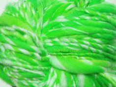 Handspun Glow in the Dark Yarn Superwash Merino  by thefinelime