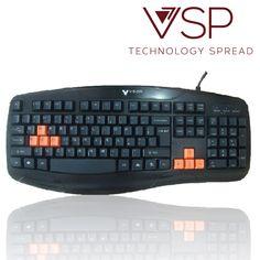 Bàn phím VSP G25 Gaming Chính hãng Phím khắc Laser chống bay chữ cực tốt Các phím điều hướng và W, A, S, D được in màu nổi Phím bấm cực êm, thích hợp cho các game thủ Có thể sử dụng cho Laptop, PC qua cổng USB Độ bền phím cao, lên đến 10 triệu lần bấm $$$ 145k Bảo hành 1 năm HOTLINE: 0128 600 5534 (Zalo, Viber) #pkgiare #gsshop #banphimgsshop  gsshopvn.com