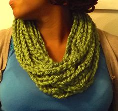 LIME GREEN Springtime Chunky Infinity Retro by TheScarvinArtist