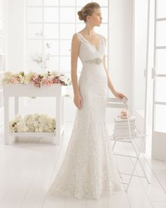 Dive into the newest Aire Barcelona Wedding Dresses. This 2016 bridal collection is simply divine. Aire Barcelona Wedding Dresses, 2016 Wedding Dresses, Colored Wedding Dresses, Designer Wedding Dresses, Wedding Attire, Bridal Dresses, Wedding Gowns, Lace Wedding, Romantic Wedding Colors