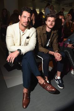 David Gandy and Jim Chapman attend the Katie Eary show during London Fashion Week Men's June 2017 collections on June 12, 2017 in London, England.