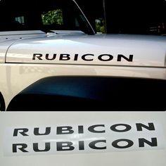 DETAILKOREA Car Hood Decals x2 Lettering Sticker for Jeep Wrangler RUBICON TJ JK #DETAILKOREA