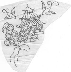 Pagoda and birds by pinky and boo, via Flickr