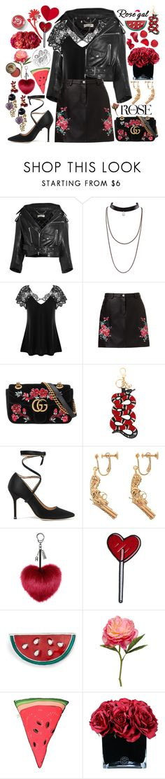 """""""Rosegal: Plus Size Lace Trim Cutwork T-Shirt"""" by styling-w-mabel ❤ liked on Polyvore featuring Balenciaga, Gucci, Vetements, Yves Saint Laurent, Cara, Silken Favours, Hervé Gambs and Bourjois"""