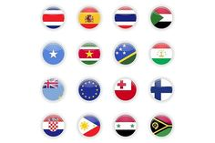 Flags set of the world. $5.00