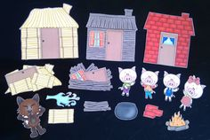 Three Little Pigs Magnet Board Story Set by byMaree on Etsy, $20.00