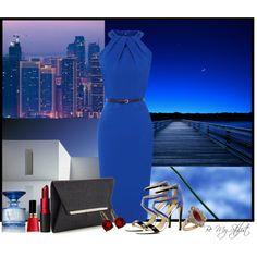 """Romancing Blue"" by bemystylist on Polyvore"