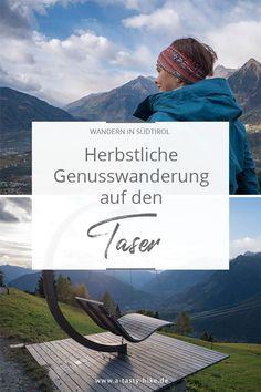 Wandern in Südtirol - Gemütliche Herbstwanderung von Schenna zum Taser mit mehreren Einkehrmöglichkeiten. Tolle Wanderung in Südtirol, die du bei deinem nächsten Südtirol-Urlaub unbedingt nachwandern solltest! #Südtirol #WanderninSüdtirol #WandernSüdtirol #Taser Outdoor Reisen, Reisen In Europa, Hiking, Wanderlust, Mountains, Nature, Travel, Tasty, Blog