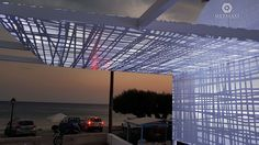 PERGOLA - ΠΕΡΓΚΟΛΑ Perforated Aluminum pergolas and awnings with unique patterns for commercial or residential use. Metalaxi Innovative Architectural Products. www.metalaxi.com Life is in the details. Aluminum Pergola, Innovation, Commercial, Louvre, Patterns, Architecture, Unique, Building, Travel
