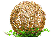 """Professional willow artist Bonnie Gale shows you how to make a willow ball for your home or garden. These popular, natural pieces are fun to make and add a sculptural presence to any indoor or outdoor space. Working with a pre-woven willow base, you'll use stakes to make the ball's overall framework, and then work prepared willow rods into a random weave to create a 15"""" diameter sphere to take home."""