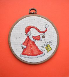 Your place to buy and sell all things handmade Etsy Christmas, Christmas Cross, Handmade Christmas, Christmas Fun, Christmas Decorations, Embroidery Hoop Art, Cross Stitch Embroidery, Cross Stitch Designs, Cross Stitching