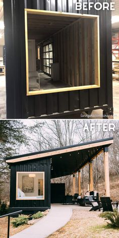 In this post, we give a tour of an cozy and intimate single shipping container home with a gorgeous patio area. #shippingcontainerhomes #shippingcontainercabin #containerhouse #tinyhouse #tinyhouseplans #tinyhousedesign #tinycabins #tinyhousecabin #beforeandafterhome Tiny House Cabin, Tiny House Living, Tiny House Design, Small House Plans, Living Room, Tiny Container House, Building A Container Home, Container Buildings, Casas Containers