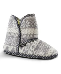 Woodland Nordic Knit Slipper Boot - Women