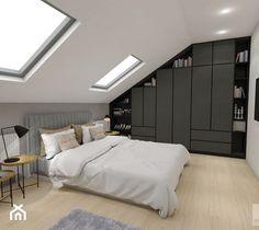 Attic Bedroom Storage, Attic Bedroom Designs, Attic Rooms, Bedroom Loft, Dream Bedroom, Master Bedroom, Modern Japanese Interior, One Storey House, Room Interior