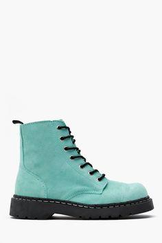 Teen Spirit Combat Boot // maldito y sensual verde menta <3