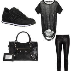"""""""Total Black"""" by sa-fashionworld on Polyvore"""