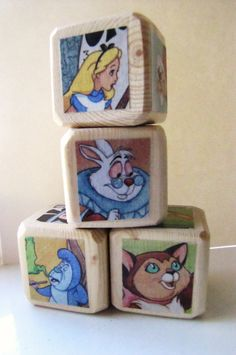 Alice in Wonderland Baby Blocks Nursery Decor & Baby by MiaBooo