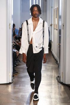 See all the Collection photos from Enfants Riches Deprimes Spring/Summer 2018 Menswear now on British Vogue Mens Fashion Blazer, Mens Fashion Casual Shoes, Men Fashion Show, Fashion Week, Fashion Brands, Men's Fashion, British Street Fashion, Summer Swag Outfits, Fall Blazer