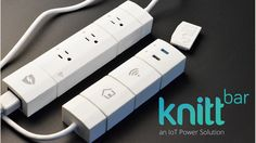 KnittBar - The Internet of Things (IoT) Power Solution project on Kickstarter. WiFi-enabled modular smart power bar with an app. Individually monitor and control each module