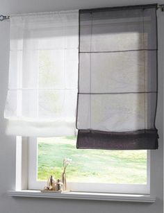 Solid Color Kitchen Balcony Voile Roman Blinds Good Quality Sheer Liftable Window Curtain 1pcs