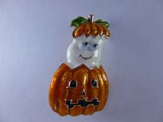 New kirks folly boo boo ghost pin pendant w free matching necklace