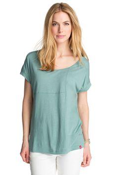 Esprit yksivärinen t-paita väljä vaalea turkoosi 25,95 e - slouchy t-shirt dusty green