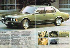 BMW 1980 range brochure 12-13 7 series
