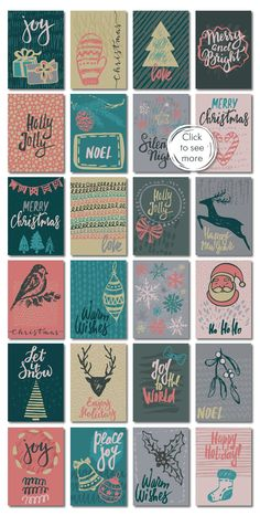 Christmas cards, seamless patterns by Fancy art on @creativemarket