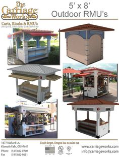 Retail Vending Carts Manufactured by Carriage Works
