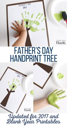 Father's Day Handprint Tree Free Printable for the best Father's Day Gift! Dad's and grandpa's will love seeing little hands make a tree. Diy Father's Day Gifts Easy, Homemade Fathers Day Gifts, Cool Fathers Day Gifts, Father's Day Diy, Fathers Day Crafts, Gifts For Kids, Hand Print Tree, Fathers Day Poems, Dad Day
