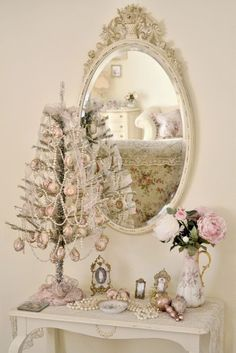 Ideias Natal do vintage com Branco Decor (24)
