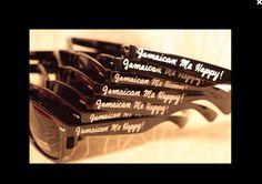 Destination wedding customizable wayfarer sunglasses