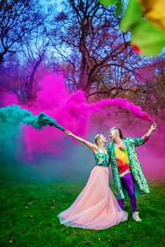 The Glitter & The Colour: A Modern Festival Inspired Styled Shoot · Rock n Roll Bride Festival Themed Wedding, Festival Party, Tipi Wedding, Wedding Dresses, Dream Wedding, Dip Dye Dresses, Pink Tulle Skirt, Rainbow Wedding, Groom Wear