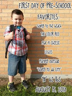 First day of preschool picture :-)