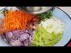 Просто,Дёшево и Вкусно Салат Овощное Ассорти по Корейски - YouTube Appetizer Salads, Appetizers, Chipotle Rice, Cabbage, Snacks, Vegetables, Cooking, Health, Food