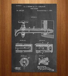 Beer Tap Patent Art Print