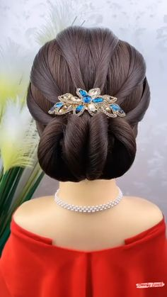 Hairdo For Long Hair, Bun Hairstyles For Long Hair, Braided Bun Hairstyles, Quick Hairstyles, Hair Updo, Indian Hairstyles, Everyday Hairstyles, Headband Hairstyles, Girl Hairstyles