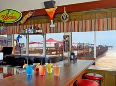 BARnacles Bar & Grille located oceanfront on the Springmaid Pier http://www.springmaidbeach.com/barnacles-bar-grill/