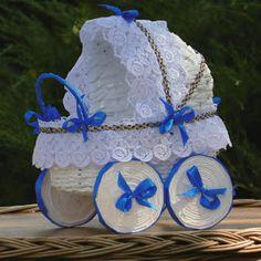 to co lubię...: Wózeczek na niebiesko :)
