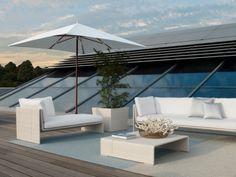 Gartenmöbel Dachterrasse Sonnenschutz Sonnenschirm Neigungswinkel weiß