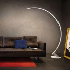 Floor-standing lamp / contemporary / aluminum / dimmable KYUDO by Hansandfranz Kundalini