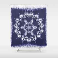 #showercurtain #bathroom #shower #curtain #snowflake #snow #blue #mandala #mandalas #Christmas #zen #meditation #spiritual #spirituality