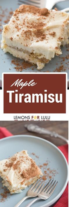 This maple tiramisu recipe is filled with sweet mascarpone and coffee but also features spiced rum and maple syrup!