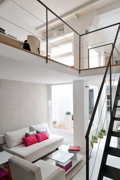 Reforma y decoración completa. Piso en Trafalgar, 65m2 Madrid Madrid, Salons, Living Room, Architecture, Bed, Lofts, Furniture, Houses, Design