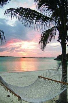 a hammock on the beach...so peaceful