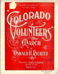Sheet Music - Colorado volunteers march