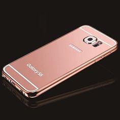Rose Gold Mirror Samsung Galaxy S6 Case, Umiko(TM) Clear Mirror With Metal Bumper Back Shell Hard Case Cover for Samsung Galaxy S6-Rose Gold Umiko http://www.amazon.com/dp/B010VGUS5Y/ref=cm_sw_r_pi_dp_3MEtwb1438JBC