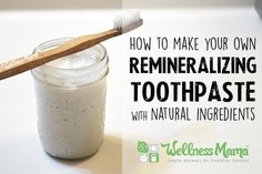 This homemade remineralizing toothpaste uses all natural and safe ingredients to naturally clean teeth and provide necessary minerals to the mouth.