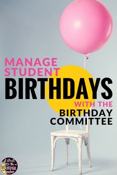 love this idea! Never forget a student's birthday with the birthday committee! A simple and creative idea to put students in charge of birthday celebrations so you can keep teaching! Classroom Birthday, 5th Grade Classroom, School Classroom, Classroom Ideas, Classroom Organization, Classroom Supplies, Classroom Design, Kindergarten Classroom, Classroom Procedures